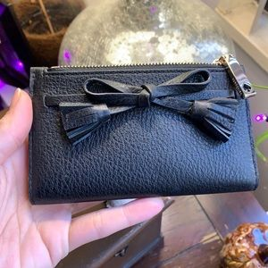 Authentic Kate Spade leather bow snap wallet/ID🌸